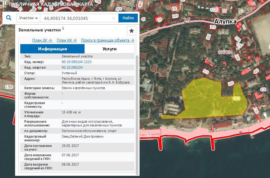 В Алупкинском санатории имени Боброва территорию парка оформили в собственность ялтинской администрации