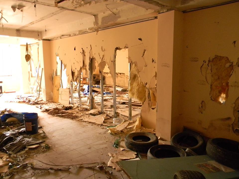 В Ялте разгромили тренировочный центр местного отделения ДОСААФ 7
