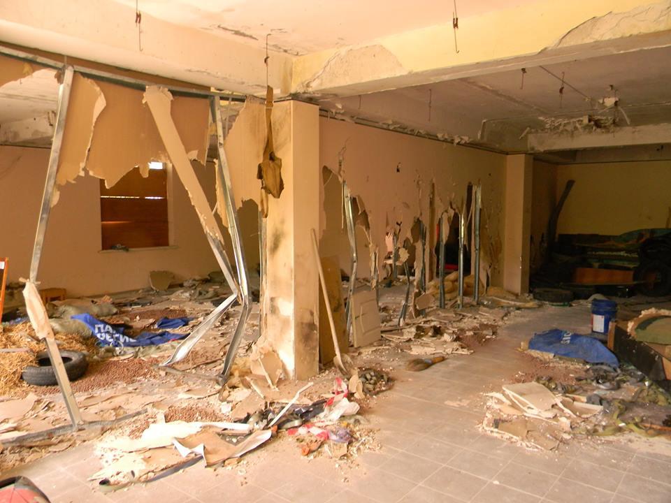 В Ялте разгромили тренировочный центр местного отделения ДОСААФ 6