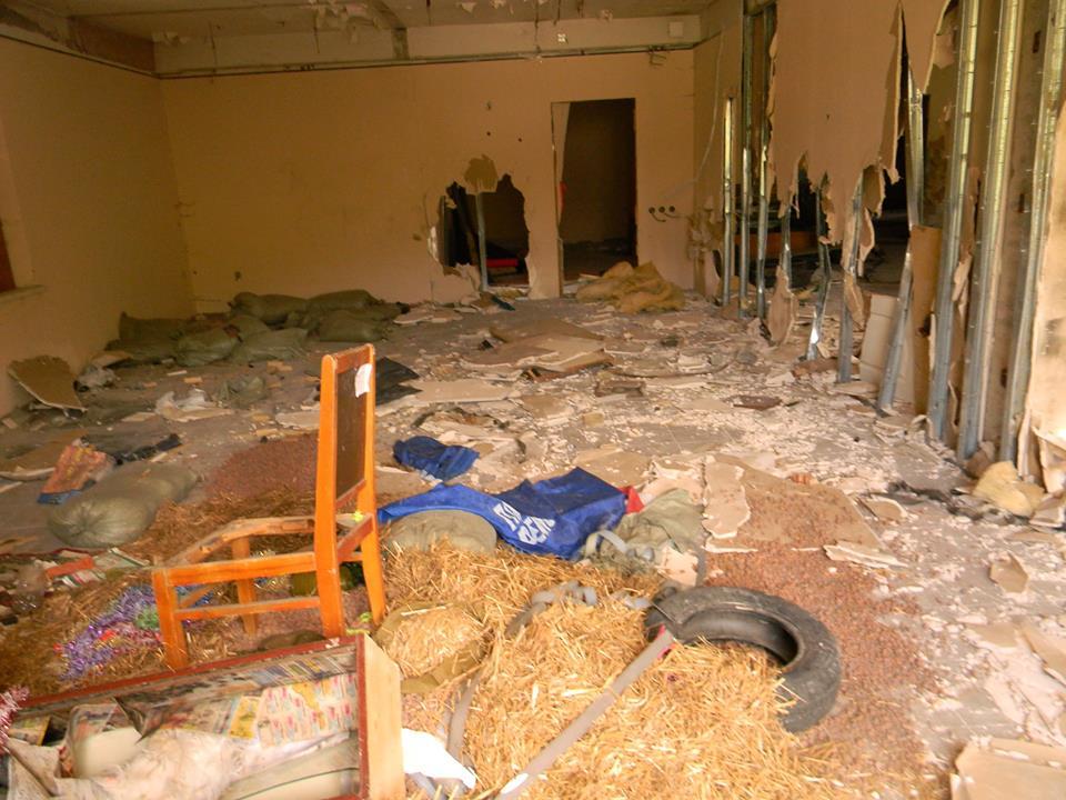 В Ялте разгромили тренировочный центр местного отделения ДОСААФ 3