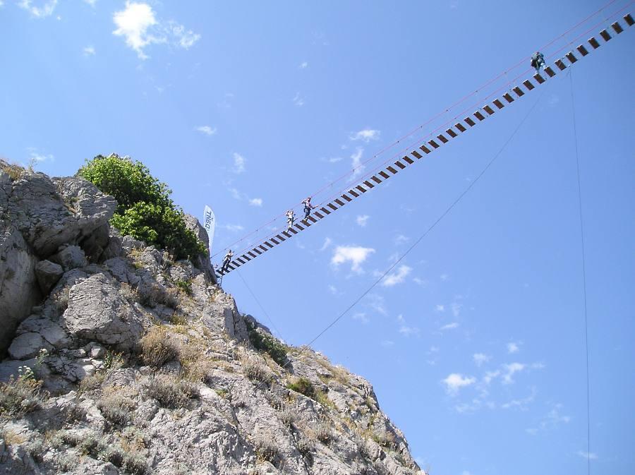 В Симеизе открыли подвесной мост на скалу Дива 4