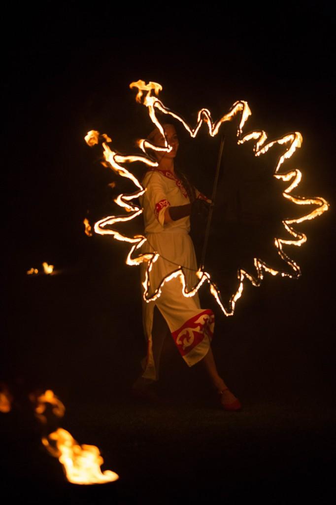 Славянское шоу с огнем
