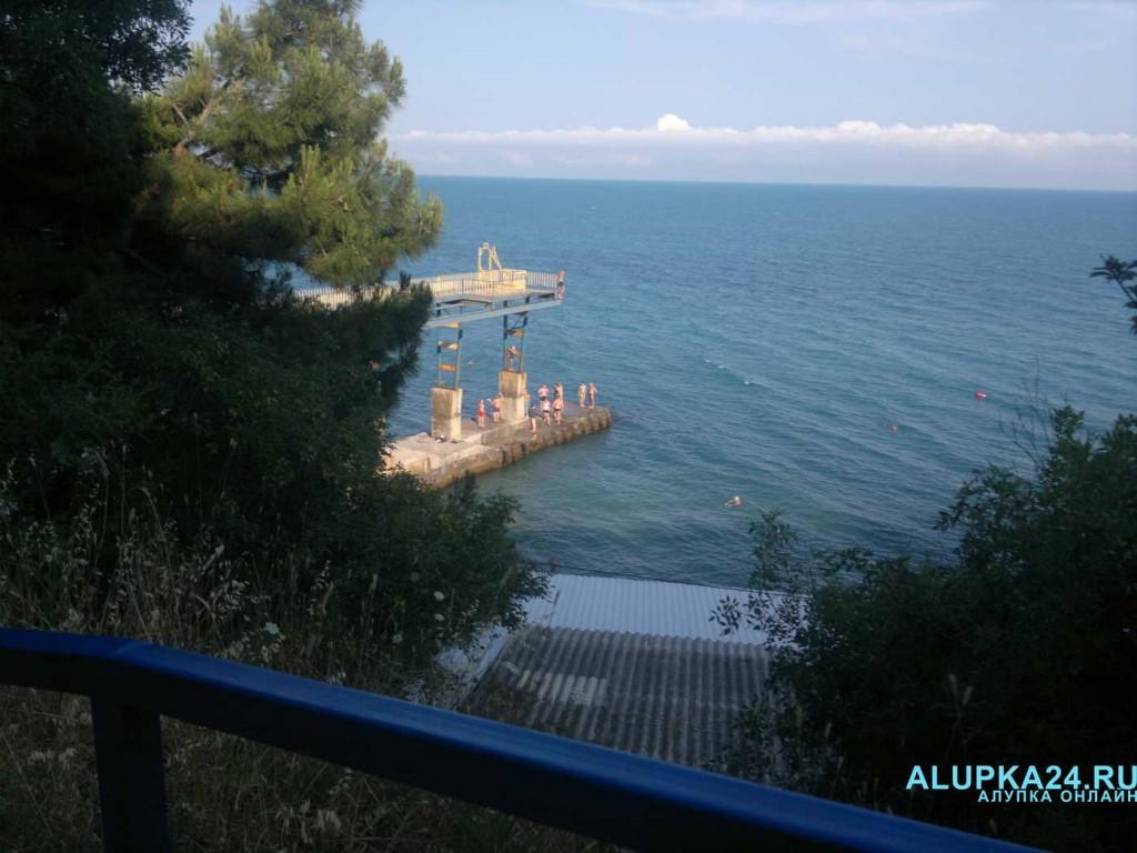 Морская вода в Алупке снова нагрелась