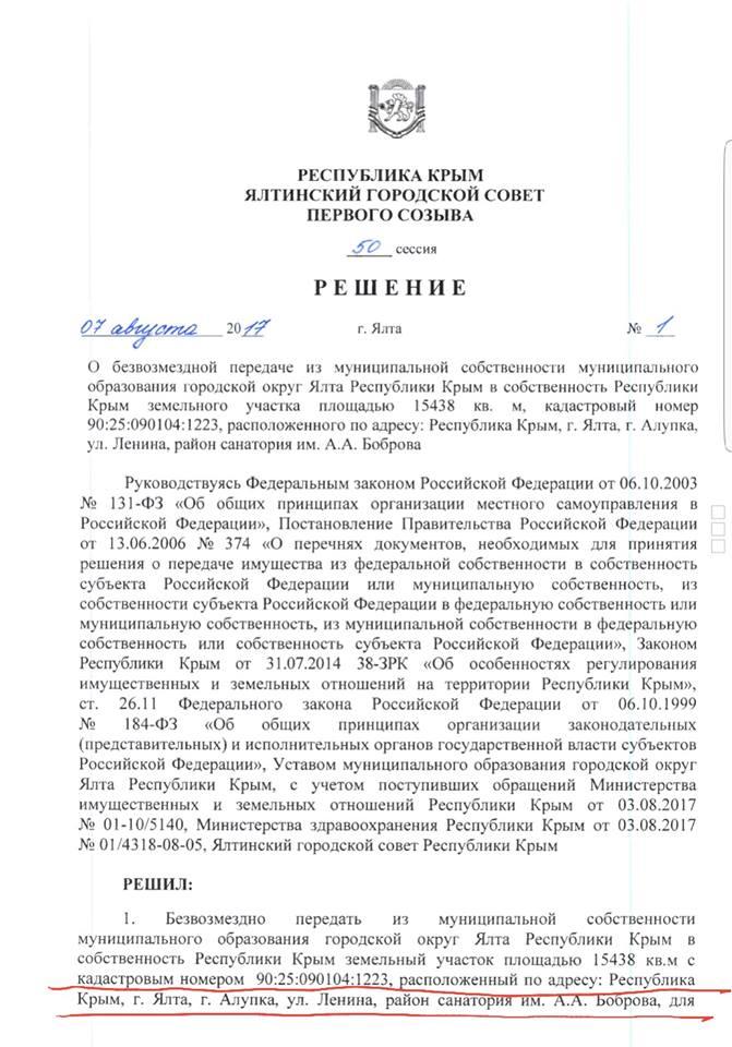 Территорию санатория Боброва вернули в республиканскую собственность 2