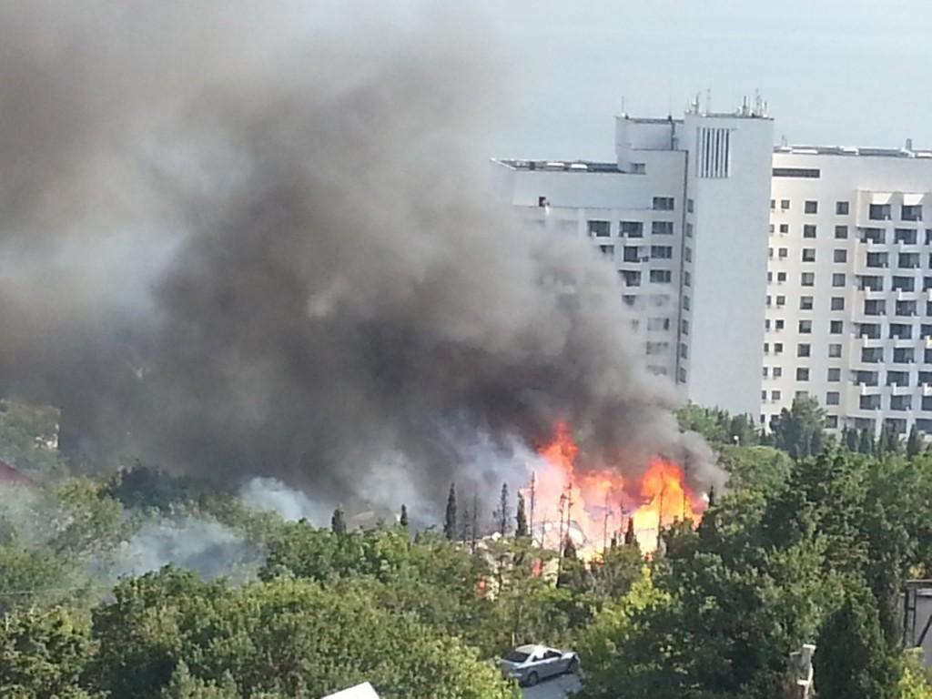 Пожар в Форосе