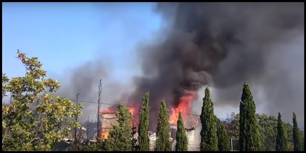 В Форосе произошёл пожар в детском лагере