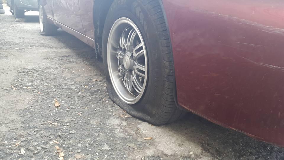 В Алупке появились прокалывающие шины хулиганы 2