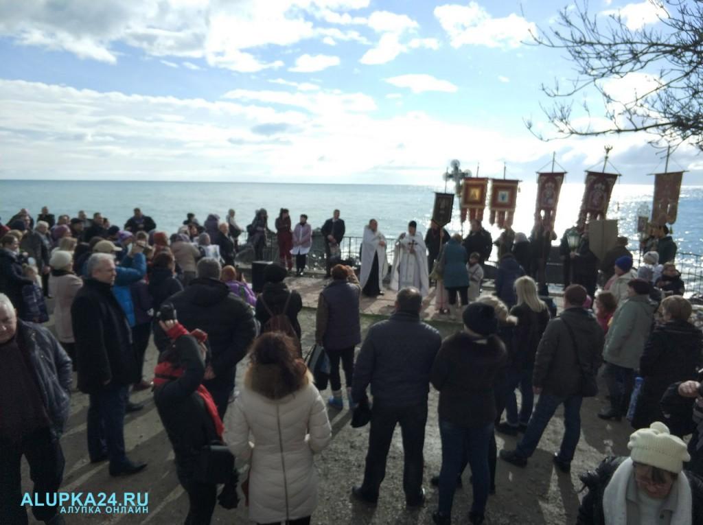 В Алупке отметили Крещение Господне 2018 2