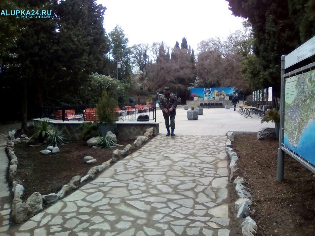В Алупке готовится к открытию арт-площадка в Воронцовском парке