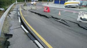 В Ялте введён режим ЧС из-за оползня на севастопольской трассе