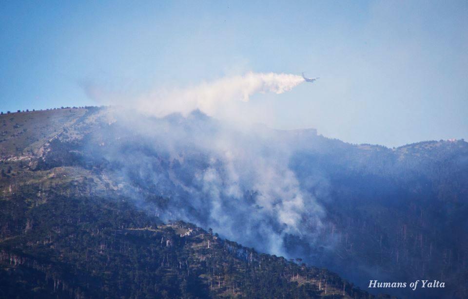 В Ялте третий день тушат лесной пожар