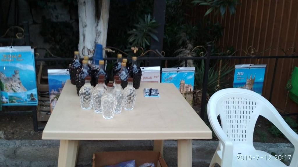 В Большой Ялте без документов продают домашнее вино