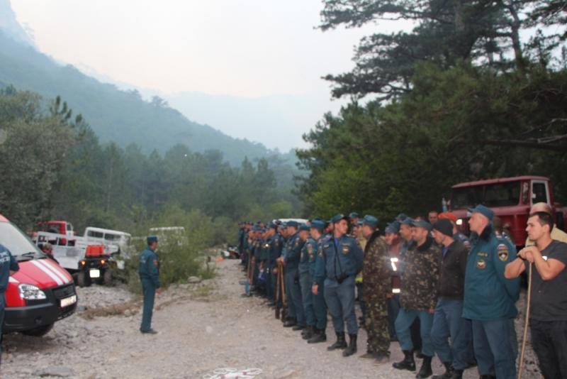 В Ялте третий день тушат лесной пожар (Фото: пресс-служба МЧС) 4