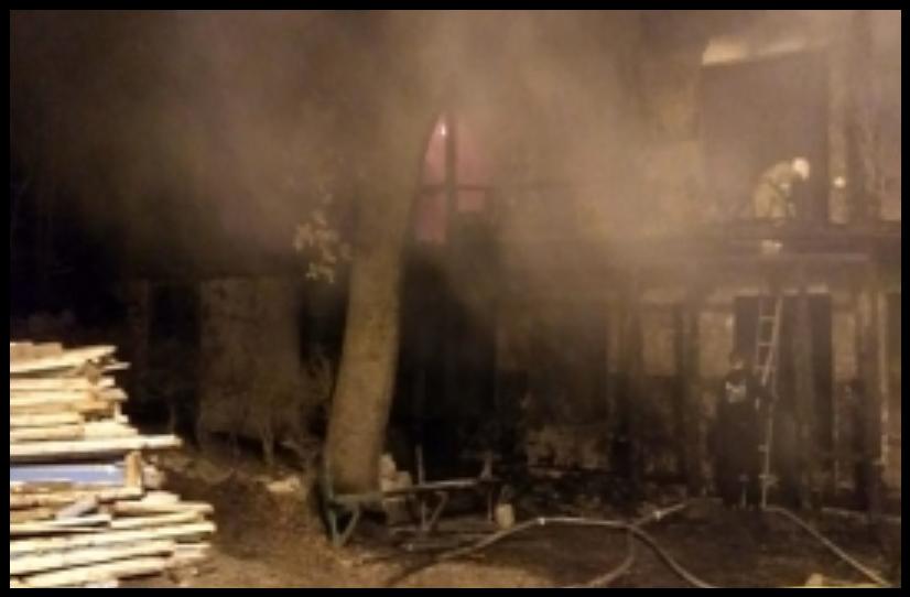 В Ялте горел корпус санатория «Сосняк» 2