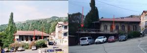 Жители Алупки просят снести аварийный навес в центре города