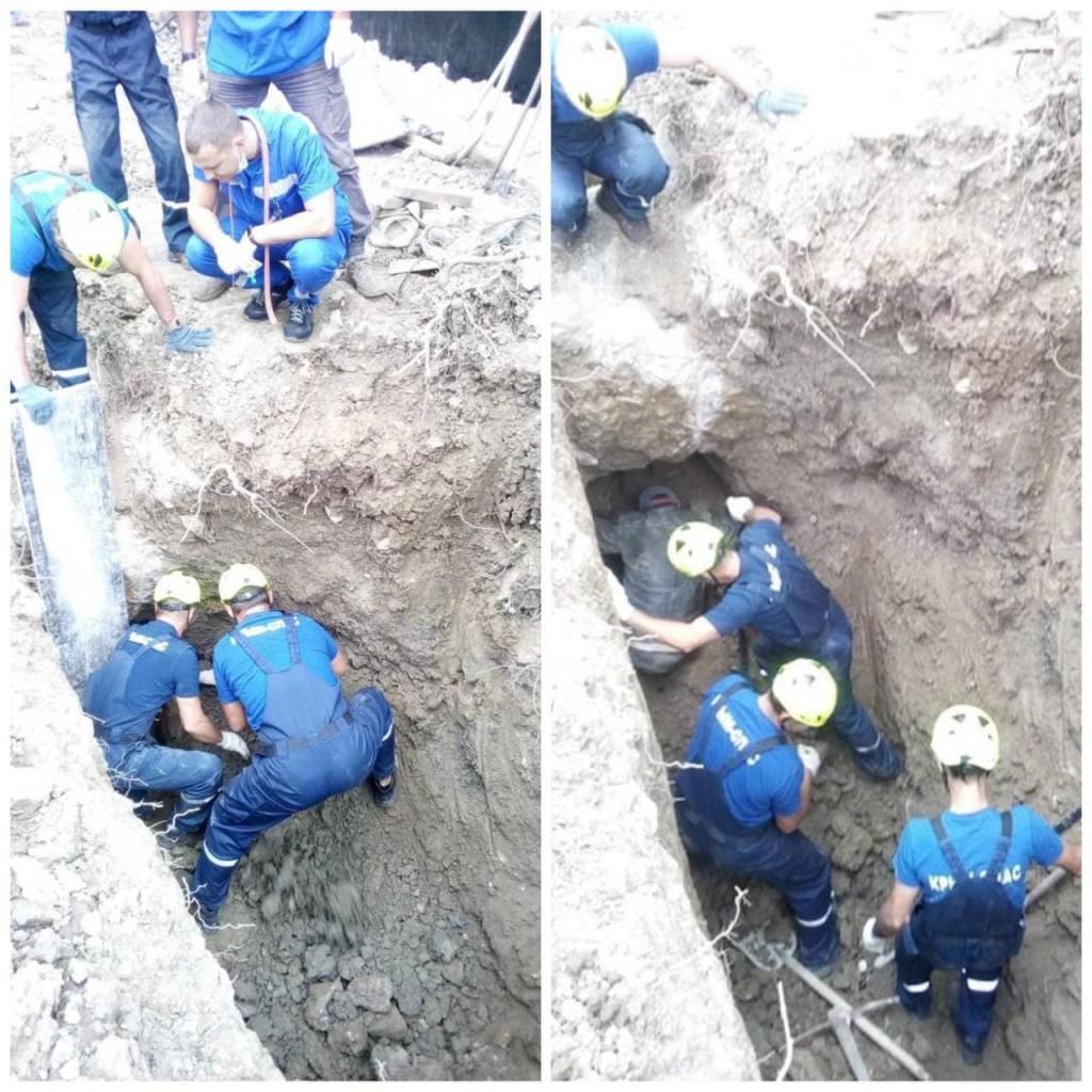 Ялтинские спасатели откопали строителя